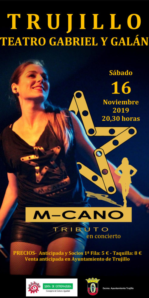 Cartel Concierto M-Cano Trujillo