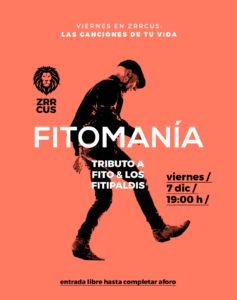 Fitomania Tributo a Fito y Fitipaldis en Sala Zrrcus de Cáceres