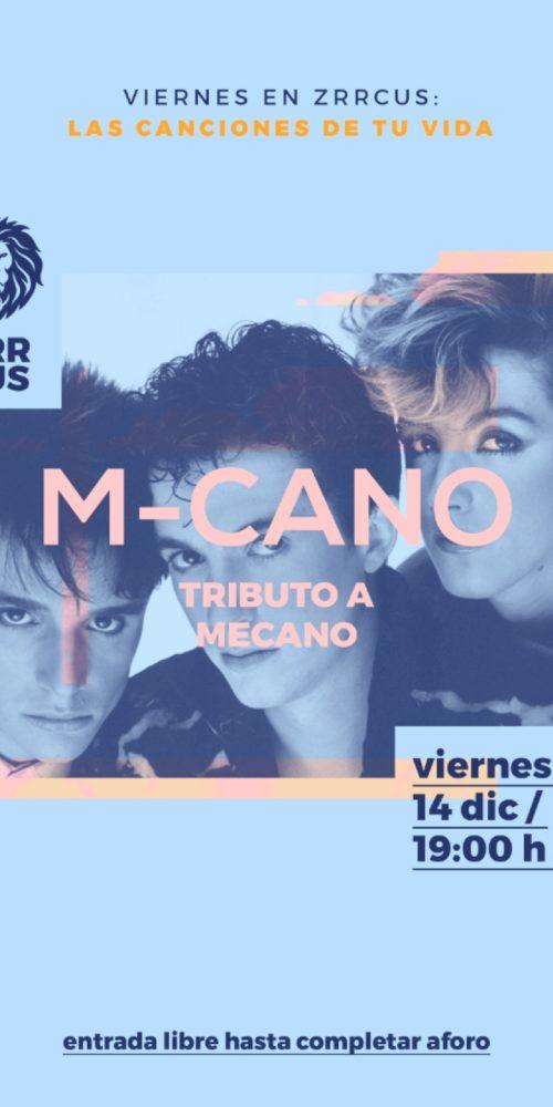 M-cano tributo a Mecano en Sala Zrrcus de Cáceres