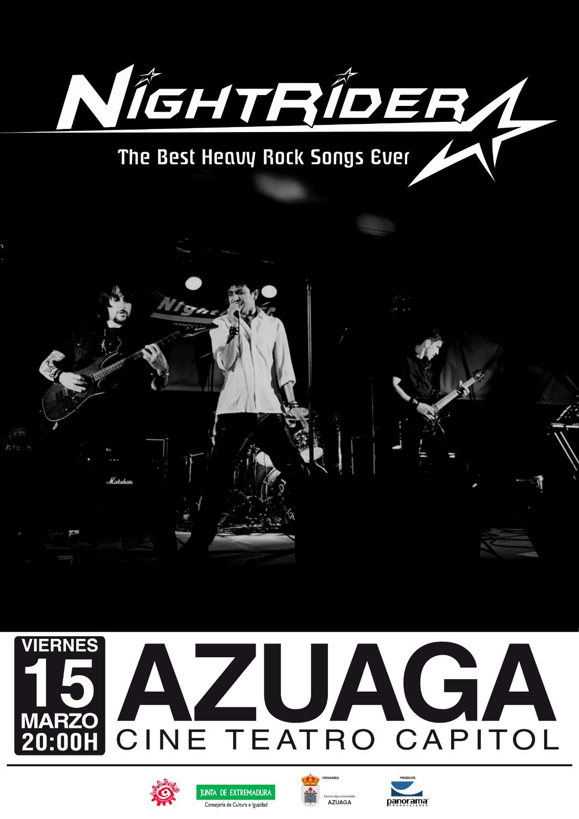Nightrider versiones de Heavy Rock 80 en Azuaga