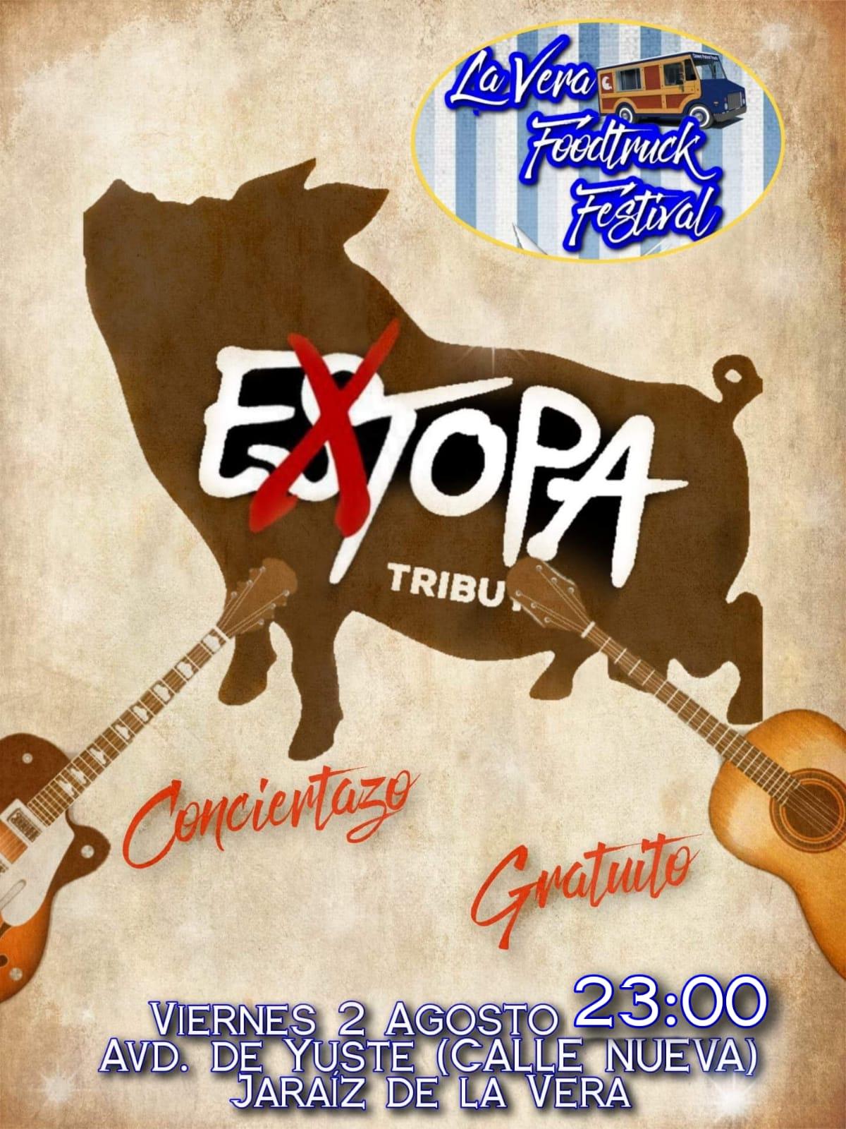 Extopa Tributo a Estopa con los food trucks en Jaraiz de la Vera