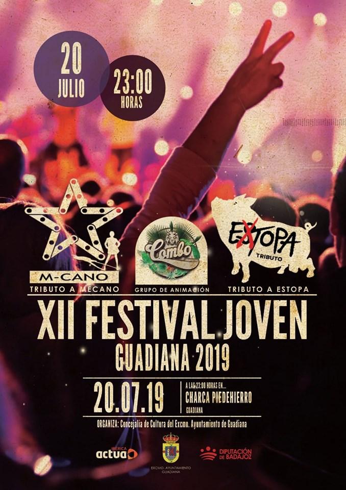 XII Festival joven Guadiana Extopa y M-cano, tributo a Mecano y tributo a Estopa