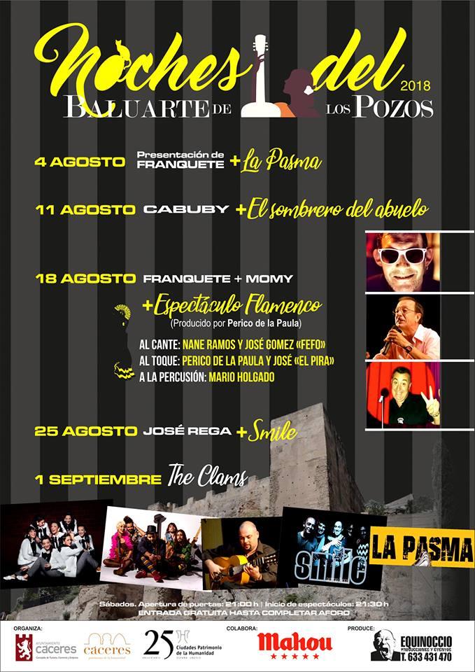 La pasma cover band baluarte pozos Cáceres