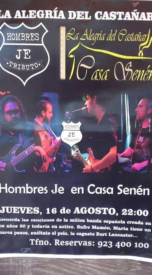 cartel HombresJE tributo a Hombres GBejar