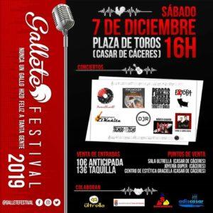 cartel Gallete festival Extopa Tributo a Estopa