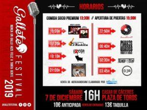 horarios Gallete Festival Extopa tributo a Estopa